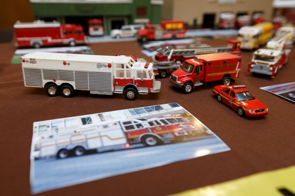 Model fire equipment and memorabilia were on display inside a conference room Saturday during the 9th Annual Silver City Fire Fest at Comfort Inn and Suites in Meriden July 21, 2018 | Justin Weekes / Special to the Record-Journal