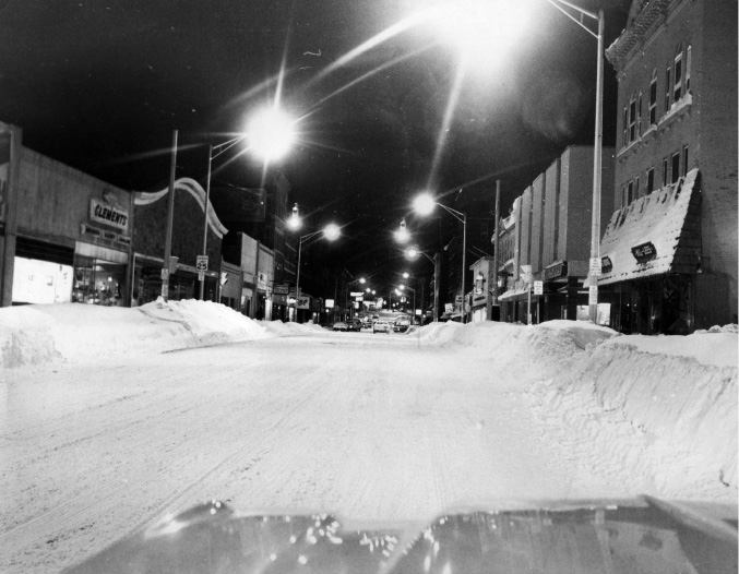 Looking down West Main Street during the Blizzard of 1978. | File photo / Record-Journal