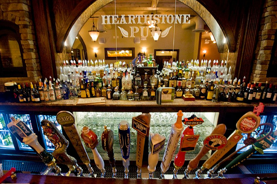A view of the bar at the newly opened Heathstone Pub in Southington. (Johnathon Henninger/ Record-Journal)