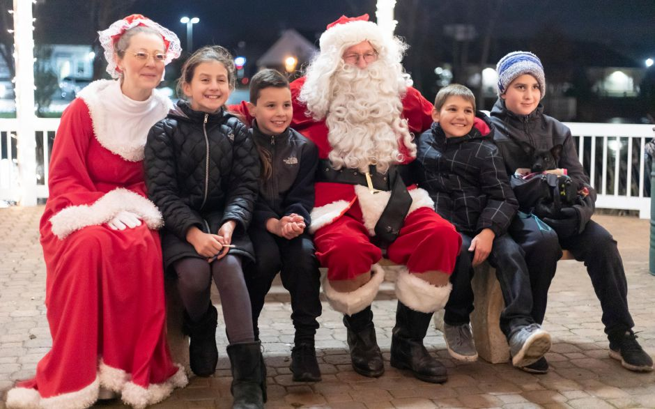 Children got to meet Santa Claus after he lit the holiday tree at the Veterans Memorial Park in Berlin on Nov. 24, 2018. | Devin Leith-Yessian/Berlin Citizen