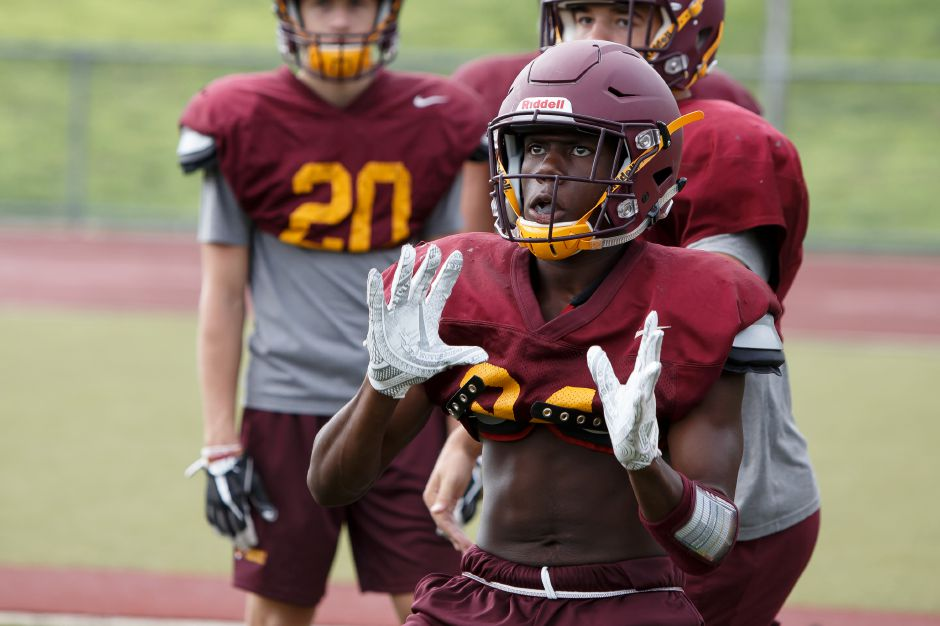 With 319 yards Friday night in Stratford, Sheehan junior runner back Terrence Bogan already has 534 yards on the season | Justin Weekes / Special to the Record-Journal