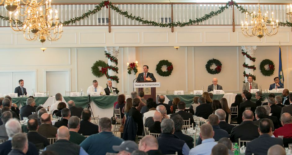 Timothy Herbst speaks during the Connecticut Construction Industries Association forum at the Aqua Turf in Southington, Friday, Dec. 15, 2017. Ten Republican gubernatorial candidates shared their positions on state finances, budget, transportation, economic growth and Connecticut's decline at the forum. Dave Zajac, Record-Journal