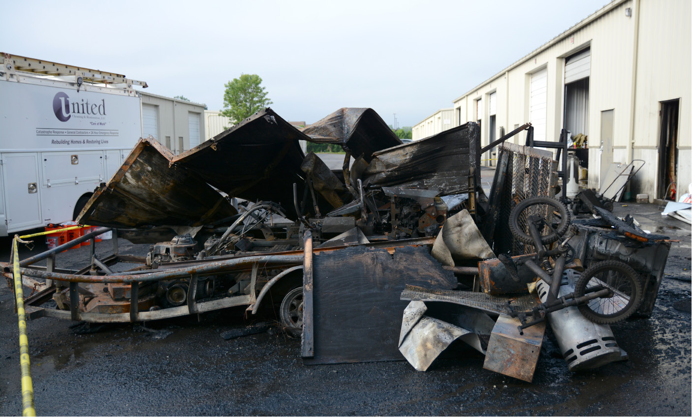 Firefighters battle fire at Wallingford storage facility & WALLINGFORD u2014 An early morning fire caused heavy damage to units at