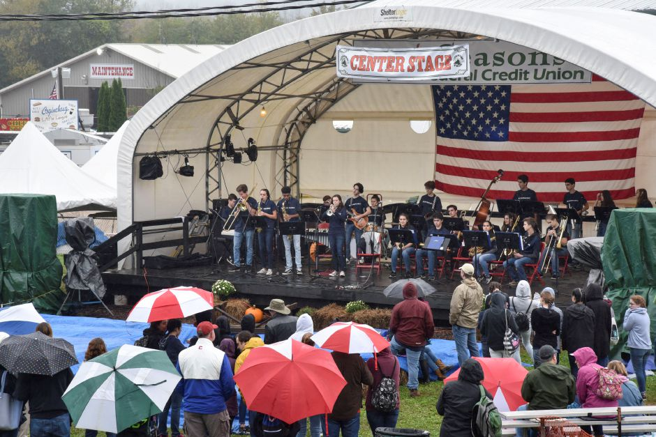 The Coginchaug Reginoal High School band performs at the Durham Fair on Friday, Sept. 28, 2018. | Bailey Wright, Record-Journal