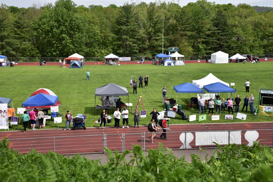 The 23rd Relay for Life Meriden/Wallingford event was held on the Maloney High School track on Friday, May 18, 2018, to benefit the American Cancer Society. | Bailey Wright, Record-Journal
