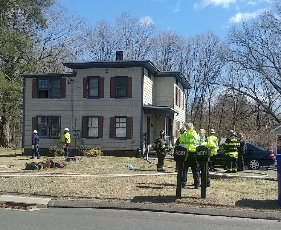 Firefighters responded to a fire at a Marion Avenue home in Southington on Monday, April 1, 2019. | Mary Ellen Godin, Record-Journal
