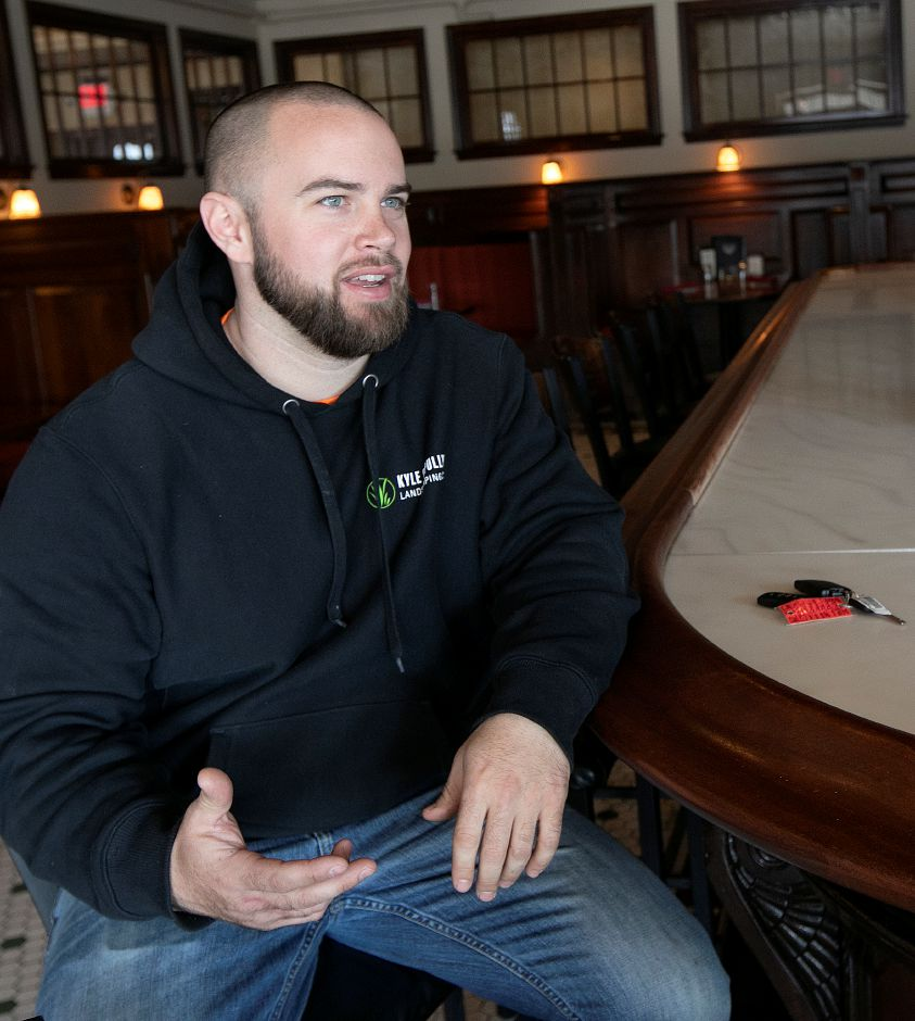Kyle Cipully, general manager, talks at the Waverly Inn, 286 Maple Ave. Cheshire, Fri., Mar. 1, 2019. Owners of the Waverly Inn restaurant have the historic location for sale but said until they find the next owner everything is business as usual. Dave Zajac, Record-Journal