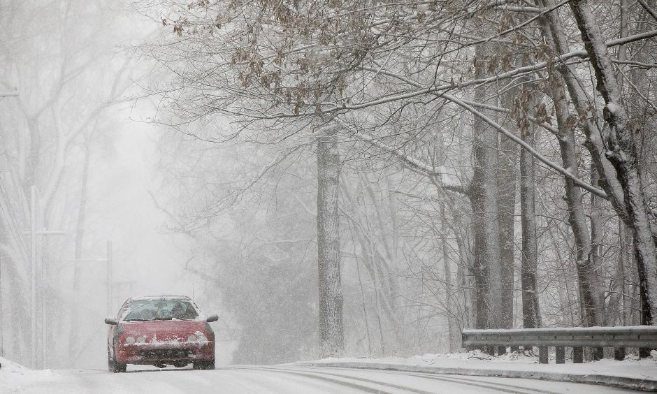 A slow-developing winter storm on March 7 brought 2 to 3 inches of snow to the area per hour. That night, Eversource Energy reported more than 100,000 power outages in the state, including about 5,600 in Cheshire.