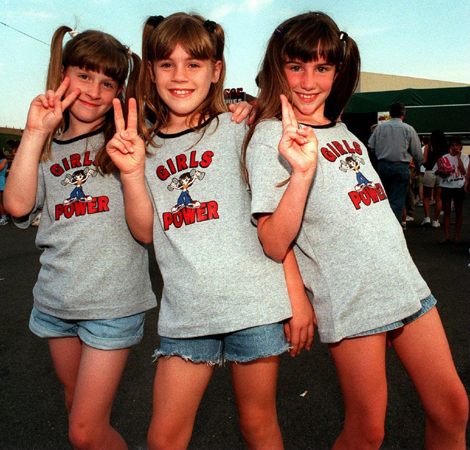 RJ file photo - Fans get ready for the Spice Girls concert at the Meadows Music Theatre in Hartford JUly 3, 1998.