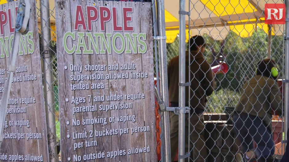Lyman Orchards in Middlefield recently added apple cannons to its list of fall activities available. Open weekends and Monday holidays. Pictured Sept. 20, 2019. |