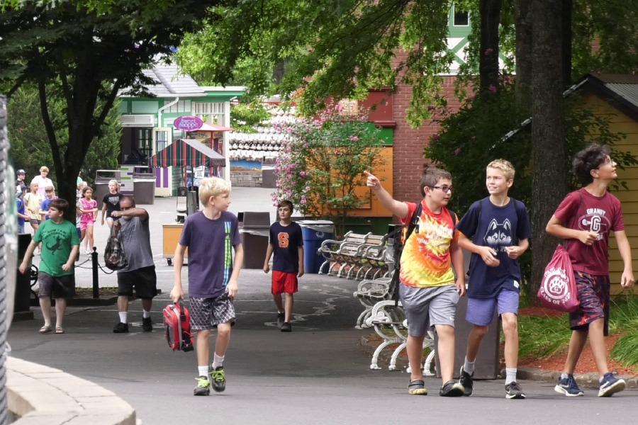 Visitors enter Lake Compounce, 185 Enterprise Drive in Bristol, at the start of the day on Tuesday, August 13, 2019. | Bailey Wright, Record-Journal
