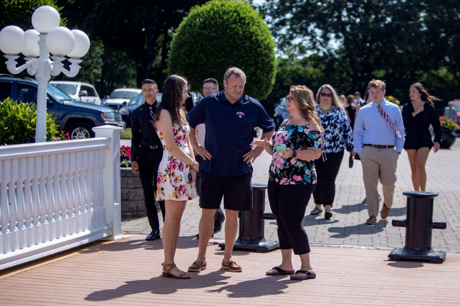 Athletes, coaches and families arrive at the Aqua Turf Club in Plantsville for the Record-Journal Best of the Bunch Brunch on Sunday. Photos by Richie Rathsack, Record-Journal