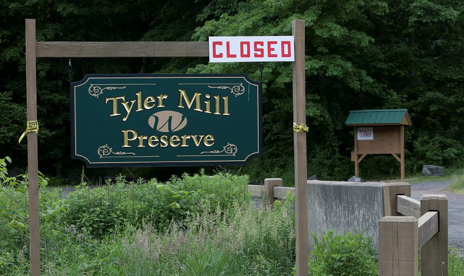 Tyler Mill Preserve in Wallingford remains closed, Wednesday, June 6, 2018. Dave Zajac, Record-Journal