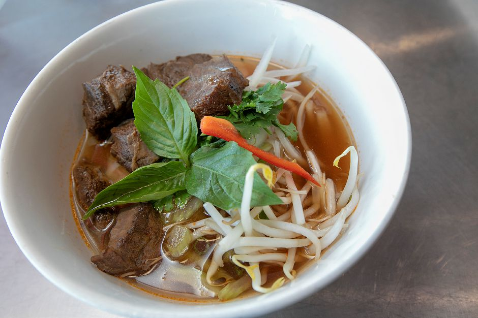 Beef Stew noodle soup at Roodle Rice & Noodle Bar, 1263 S. Broad St., Wallingford, Fri., Aug. 2, 2019. Dave Zajac, Record-Journal
