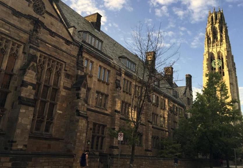 Harkness Tower on the campus of Yale University in New Haven. | Associated Press