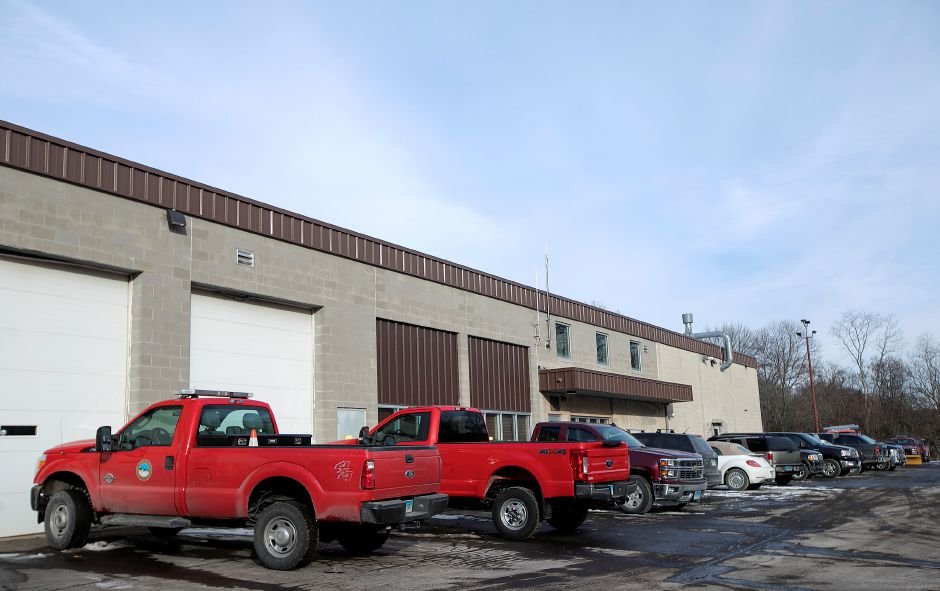 The Southington town garage, Wednesday, Jan. 3, 2018. Crews are preparing for a winter storm that could bring up to 10 inches of snow to the area. Dave Zajac, Record-Journal
