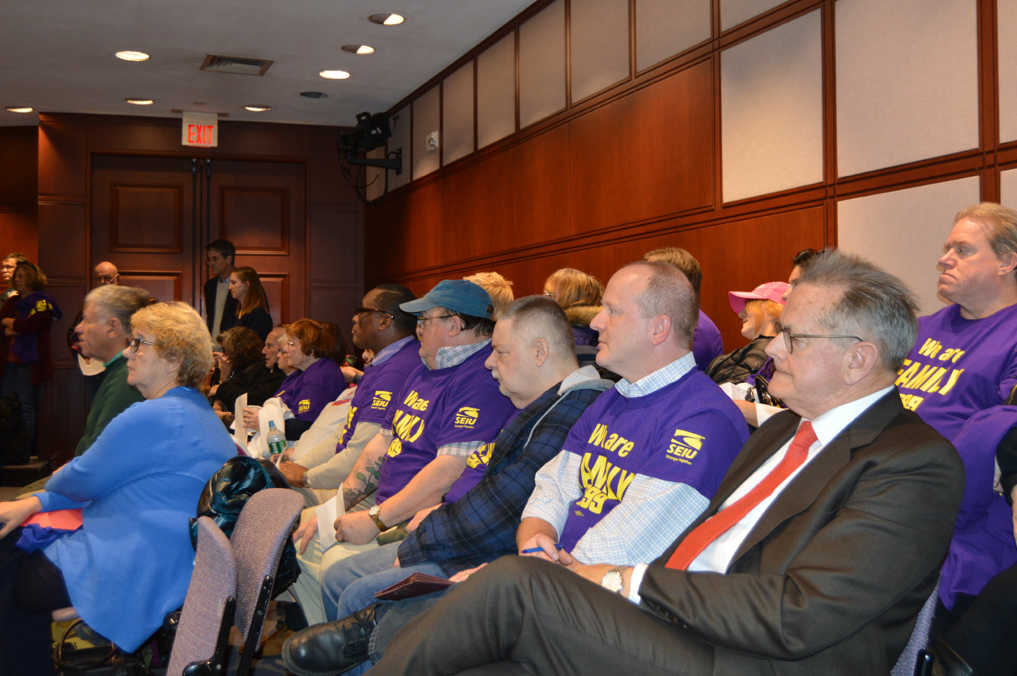 Advocates for intellectual and developmentally disabled residents attended a public hearing Tuesday in Hartford to discuss the Department of Developmental Services