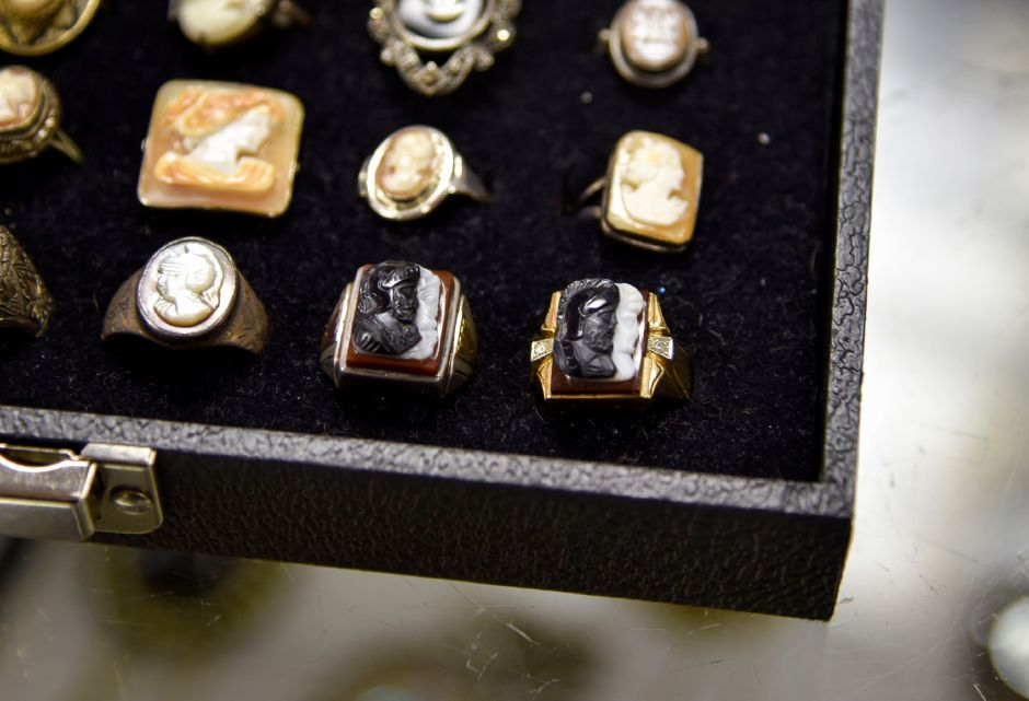 Cameo jewelry in the Vintage from the Heart collection on Nov. 1. | Bailey Wright, Record-Journal