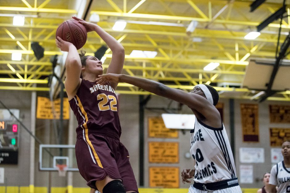 Sheehan's Olivia Robles, coming off a 28-point performance against Hillhouse in the SCC Tournament quarterfinals on Saturday, is the area's girls scoring leader at 16.9 points a game. She and the Titans, seeded No. 13 in the Class M state tournament, host No. 20 Prince Tech on Tuesday night.