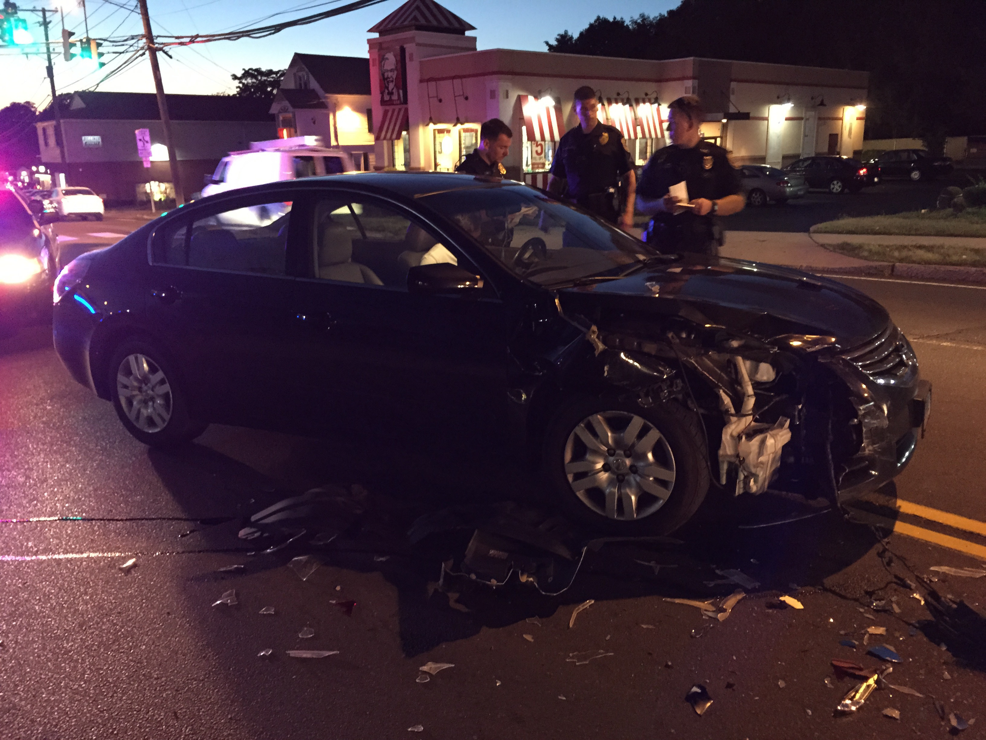 Meriden Three Cars Collided On East Main Street In Front Of
