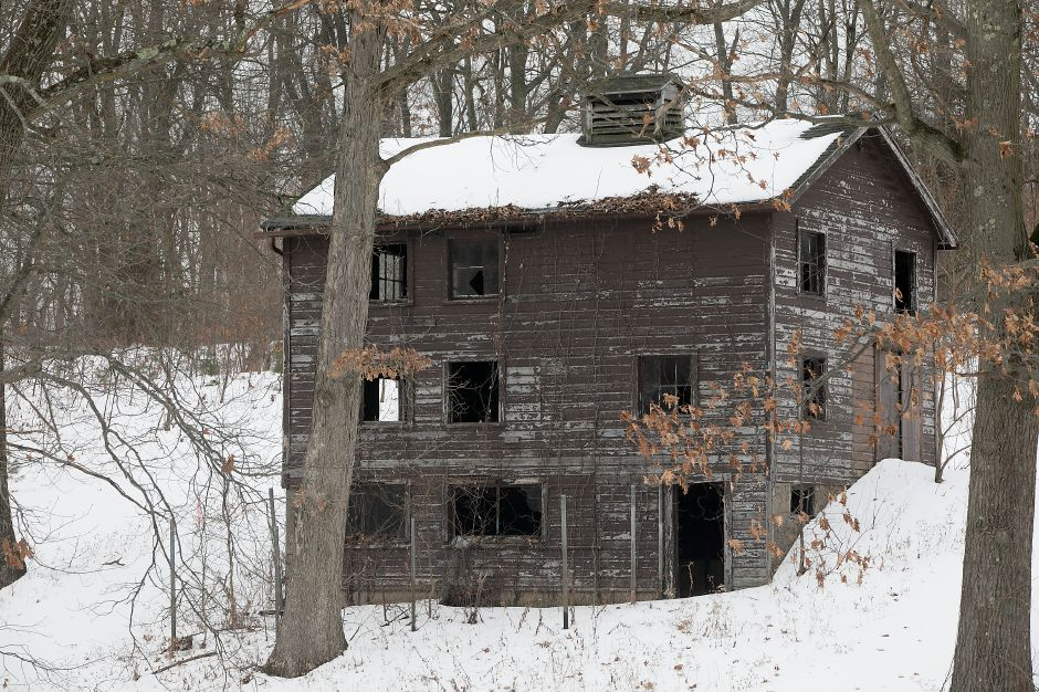 A structure behind a house at 1460 N. Broad St. in Meriden, Thursday, Jan. 11, 2018. The Carabetta Companies is seeking a zone change to allow it to build several apartments in this area of North Broad Street. Dave Zajac, Record-Journal