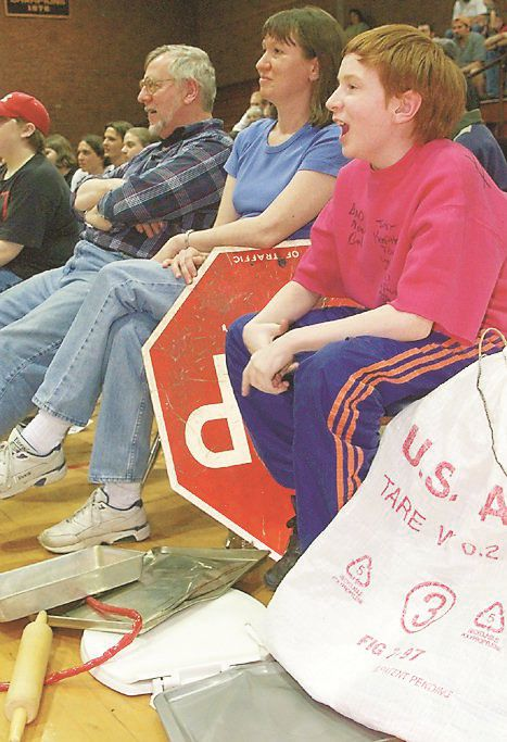 RJ file photo - Spectators watch a wrestling match at Platt High School May 1999.