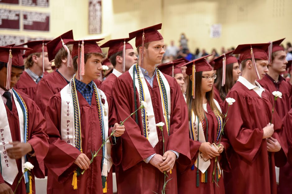 North Haven High School graduates its class of 2019 indoors at the school on June 13, 2019. | Bailey Wright, Record-Journal