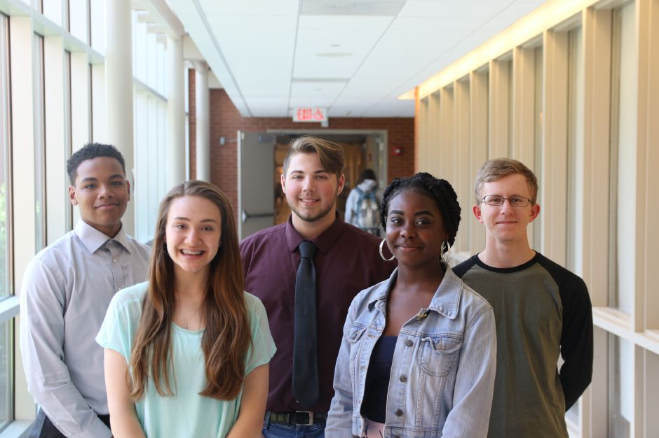 Introducing Wilcox Tech's Record-Journal Scholar-Athletes for the 2019 spring season. Chloe LaBissoniere is in front on the left. Zonviaye Walker-Elson is on the right. The boys in back are, from left to right, Dan Taveras, Chris Brunetti and Eli Henry. Spencer Davis, Record-Journal