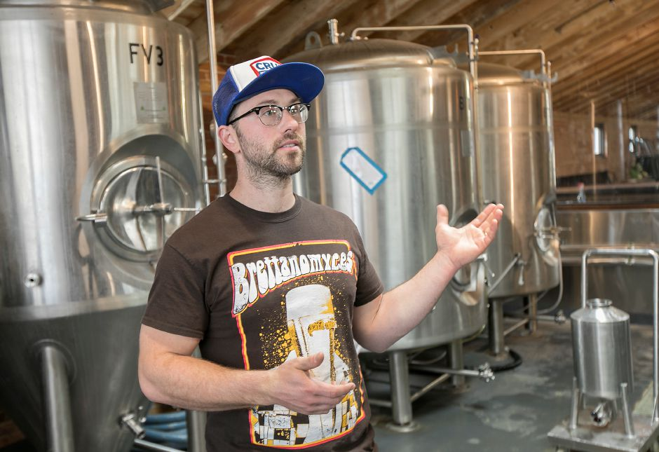 Kinsmen Brewing ranks fifth on TripAdvisor.com's list of things to do in Southington. In this file photo, Bob Bartholomew, head brewer, talks about the new family-owned and operated brewery at 409 Canal St., Wednesday, April 26, 2017. | Dave Zajac, Record-Journal