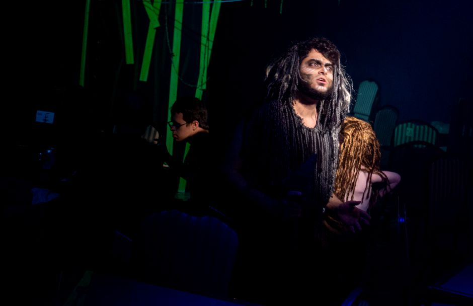 Scott Hauser as Kerchak in the Square Foot Theatre production of Tarzan. | Richie Rathsack, Record-Journal