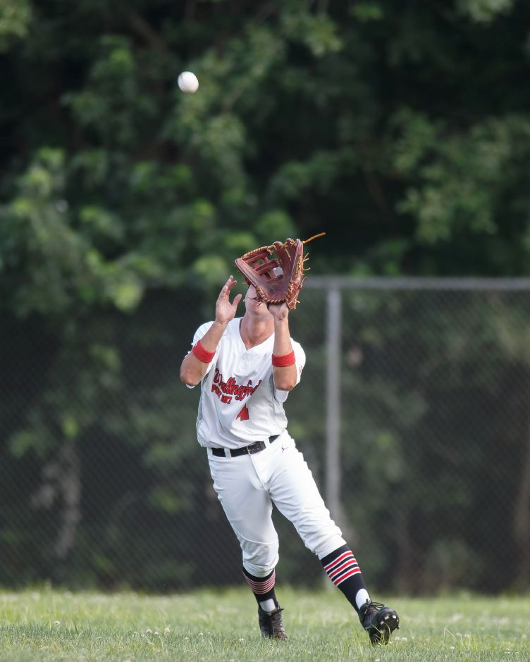 Lyman Hall grad Tyler Lyons, now playing at UMass-Dartmouth, is among the veterans who will lead Wallingford's Post 187 American Legion baseball team into Zone 2 play this summer. | Justin Weekes / Special to the Record-Journal