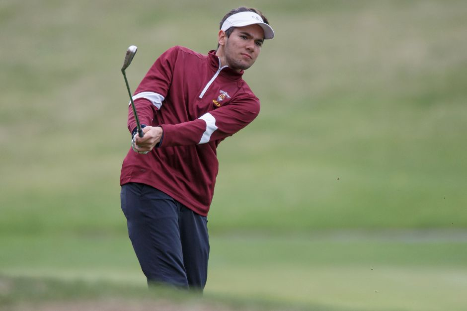 Julian Nirmal shot a 41 for the Sheehan golf team Tuesday at Brooklawn Country Club. | Justin Weekes / Special to the Record-Journal