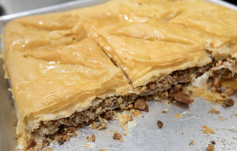 Baklava, a homemade dessert available at Crazy Greek restaurant at 1143 Meriden-Waterbury Tpke. in Southington, Thursday, February 23, 2017. | Dave Zajac, Record-Journal