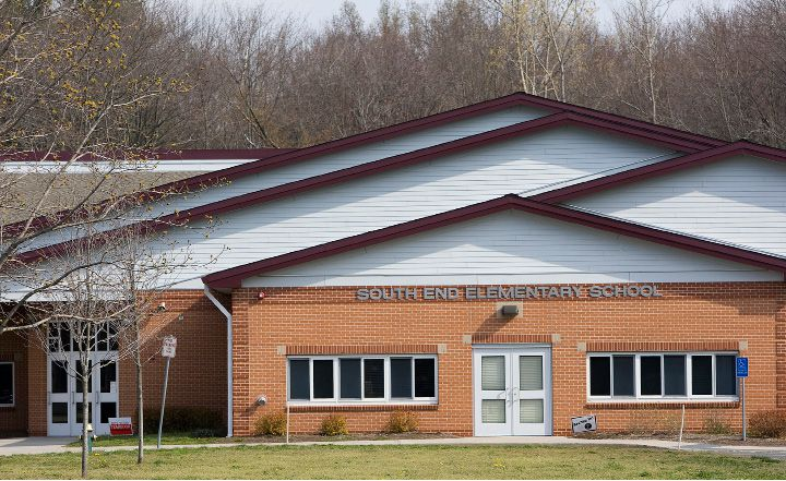 South End Elementary School in Southington. The Southington school board will decide Thursday whether or not to rename the school. Dave Zajac,Record-Journal