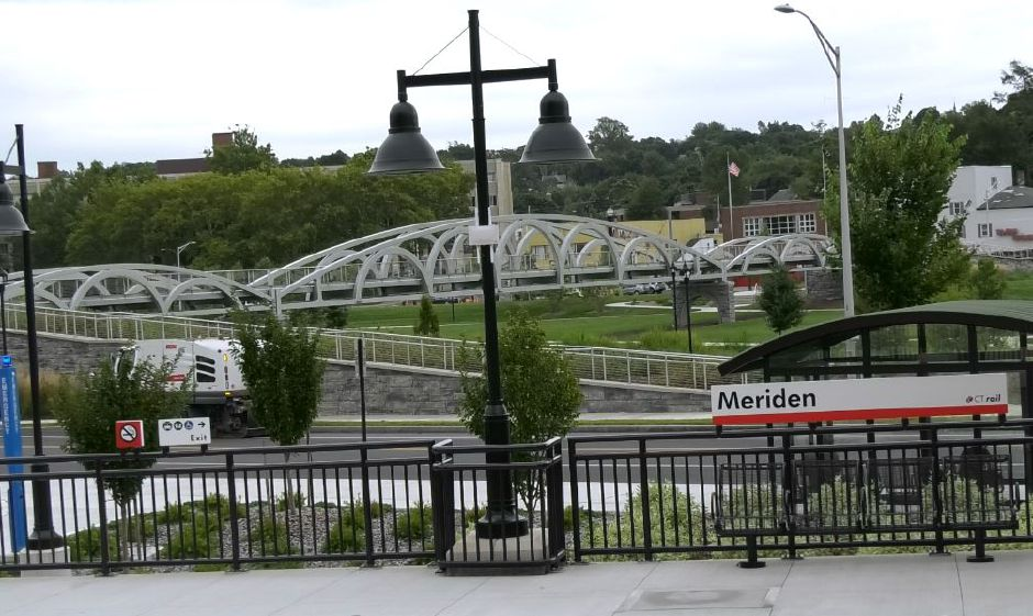 The back of the building faces the new Meriden train station and green at Gallery 53 Arts and Crafts Association of Meriden Inc., 53 Colony St., Meriden. |Ashley Kus, Record-Journal
