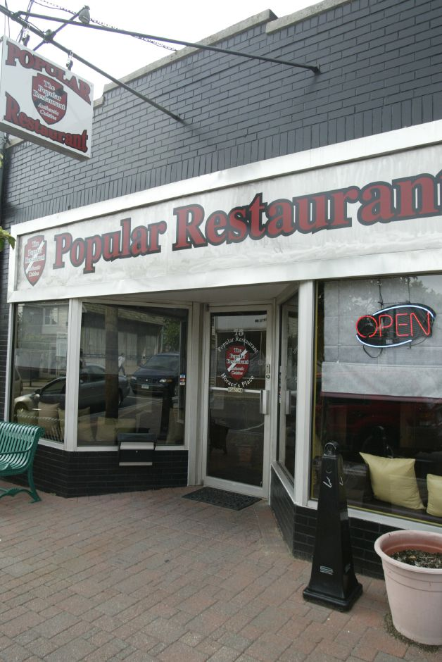 The exterior of the new Popular Restaurant in downtown Southington on July 6, 2006. The restaurant is across the street from where the old restaurant used to stand before it burned down in 1991.