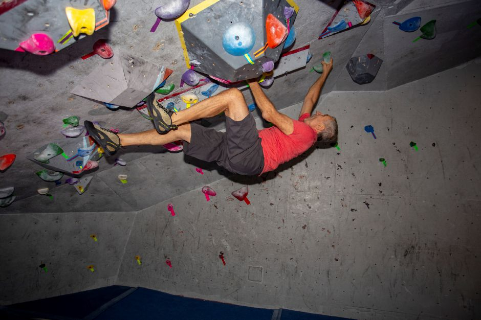 Brien Roscetti, owner, shows off the cave climbing area at Prime Climb in Wallingford Aug. 20, 2018. | Richie Rathsack, Record-Journal