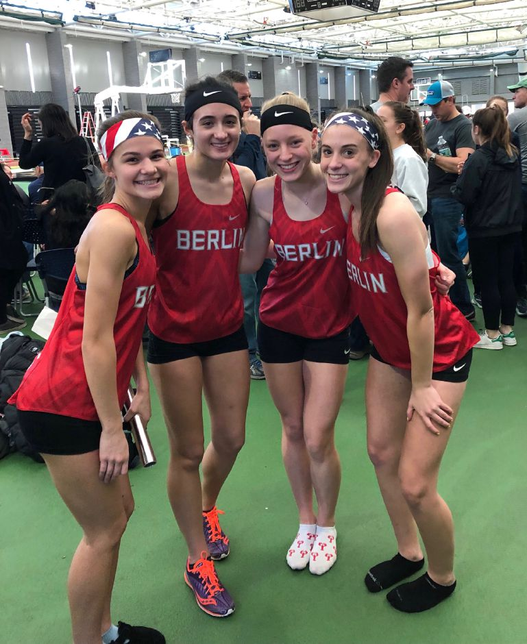 BHS's sprint medley relay team, from left: Noelle Konior, Megan Perrotta, Kylie Gentile and Maxine Muscatello.