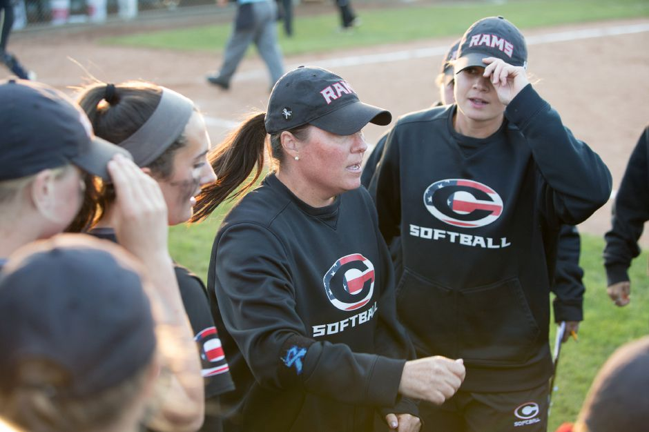Coach Kristine Drust saw her Cheshire softball team improve to 7-0 with Thursday's 10-3 home victory over Fitch. | Justin Weekes / Special to the Record-Journal