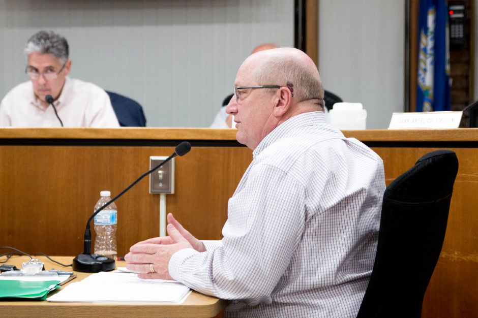 Berlin Town Manager Jack Healy submitted his resignation to the Town Council on May 1, 2019. He speaks at a May 15, 2018 Town Council meeting, where he was named the permanent Town Manager. | Devin Leith-Yessian/Berlin-Citizen