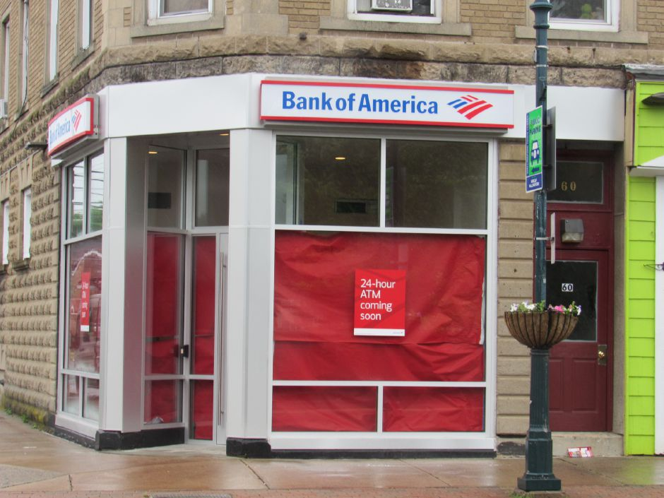 The Bank of America mobile ATM location at the downtown building at 58 Center St., Wallingford, Thur, June. 13, 2019. The location will have two ATMs and will be accessible 24/7. Jeniece Roman, Record-Journal.