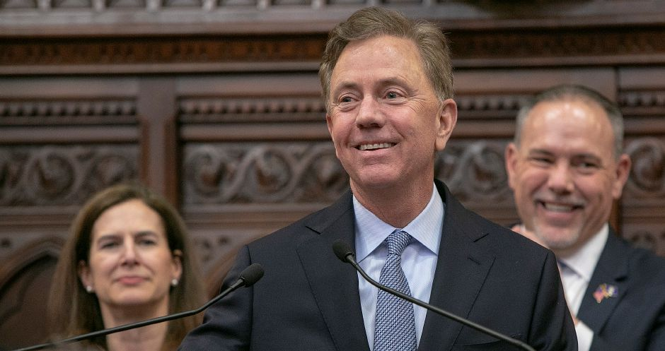 Gov. Ned Lamont addresses the legislature on opening day of the session Jan. 9, 2019. | Dave Zajac, Record-Journal