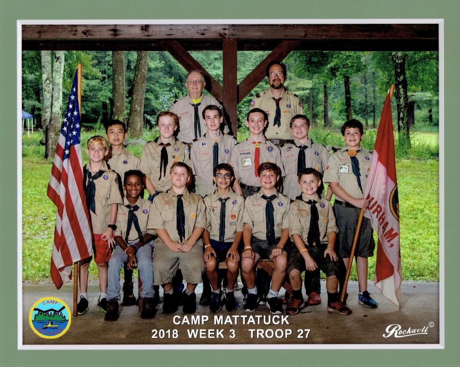 Troop 27 in Durham at Camp Mattatuck.