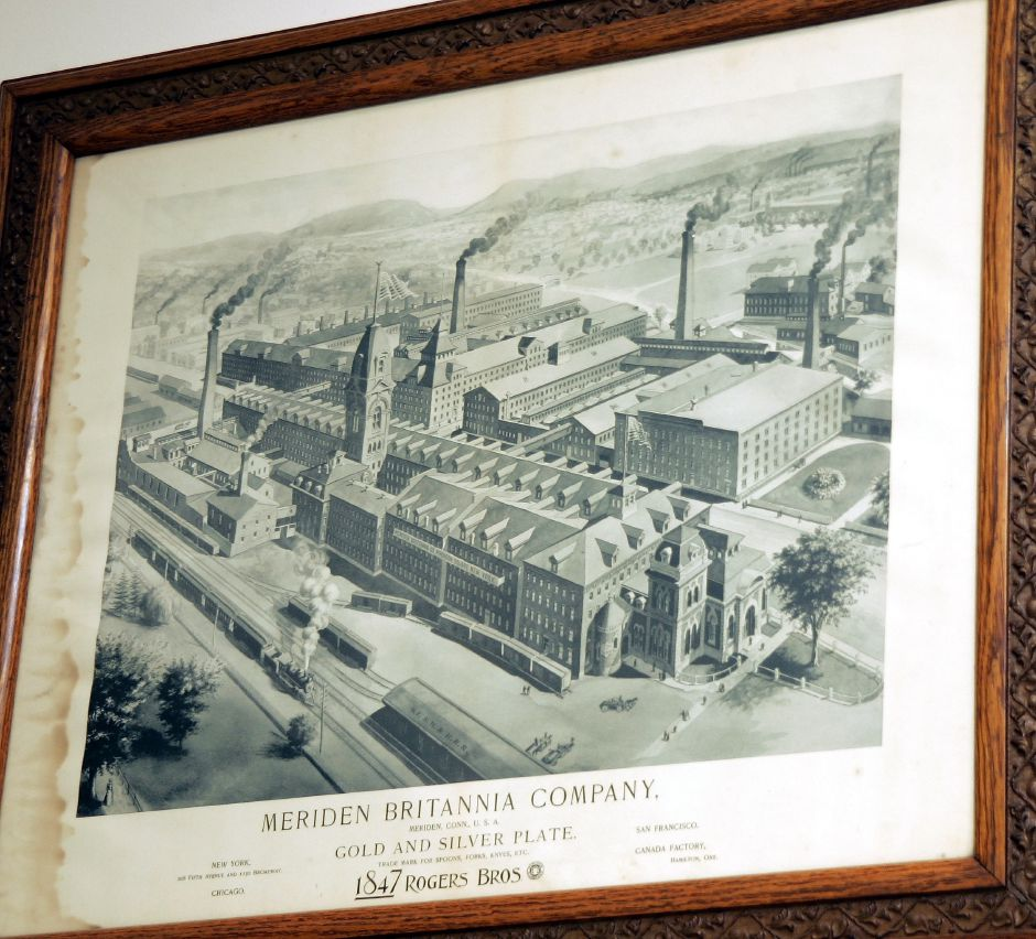 Photo of the former Meriden Britannia Company on State St. in Meriden, later to become the International Silver Co., one of the old photos in the Meriden Historical Room of the Mer. Pub. Library Mon., June 12.