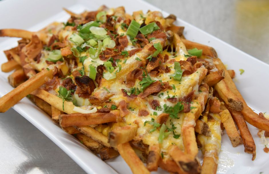 Loaded cheese fries on the menu at Softail Cafe & Grill, 980 New Haven Rd. in Durham, on June 24, 2019. | Bailey Wright, Record-Journal
