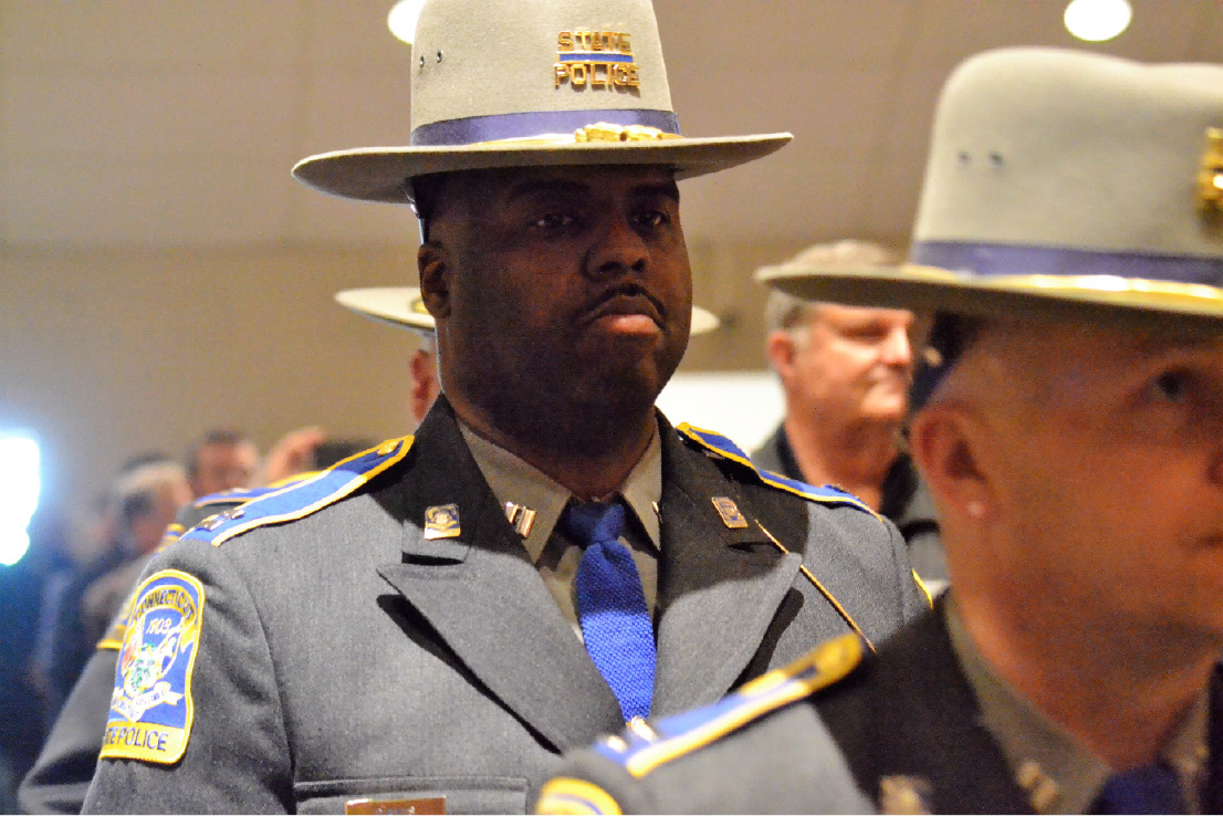 Twenty state troopers were promoted to different jobs at the Connecticut Police Academy on Thursday, Dec. 8, 2016. | Pete Paguaga