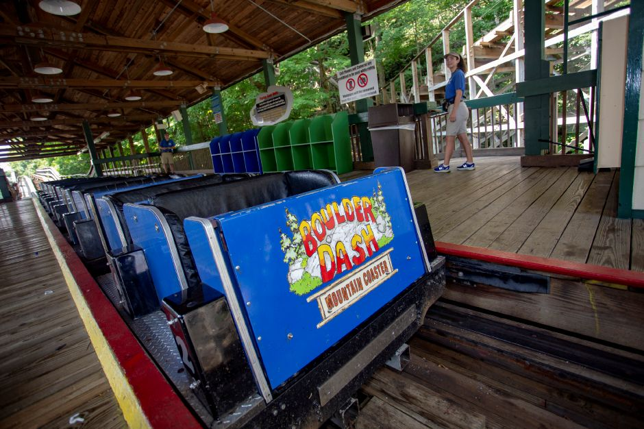 Lake Compounce staff get Boulder Dash ready for the day Aug. 8, 2018. | Richie Rathsack, Record-Journal