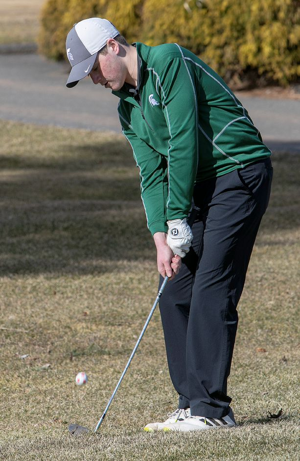 Matt Bahre had the medal round Tuesday in Maloney's win over Bloomfield at Hunter Golf Course. | Dave Zajac, Record-Journal