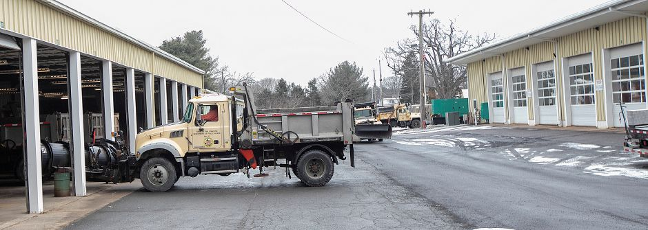 Public Works crews prepare for the incoming storm, Fri., Jan. 18, 2019. State and local officials advise area residents to prepare for a mixture of snow and sleet predicted to fall throughout the weekend. Dave Zajac, Record-Journal