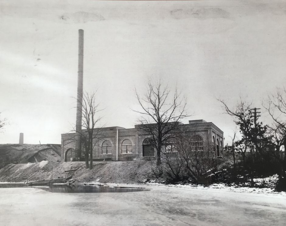 The Borough of Wallingford Electric Works electricity generating plant as seen from Community Lake, early 1900s. | Courtesy of Wallingford Historical Society